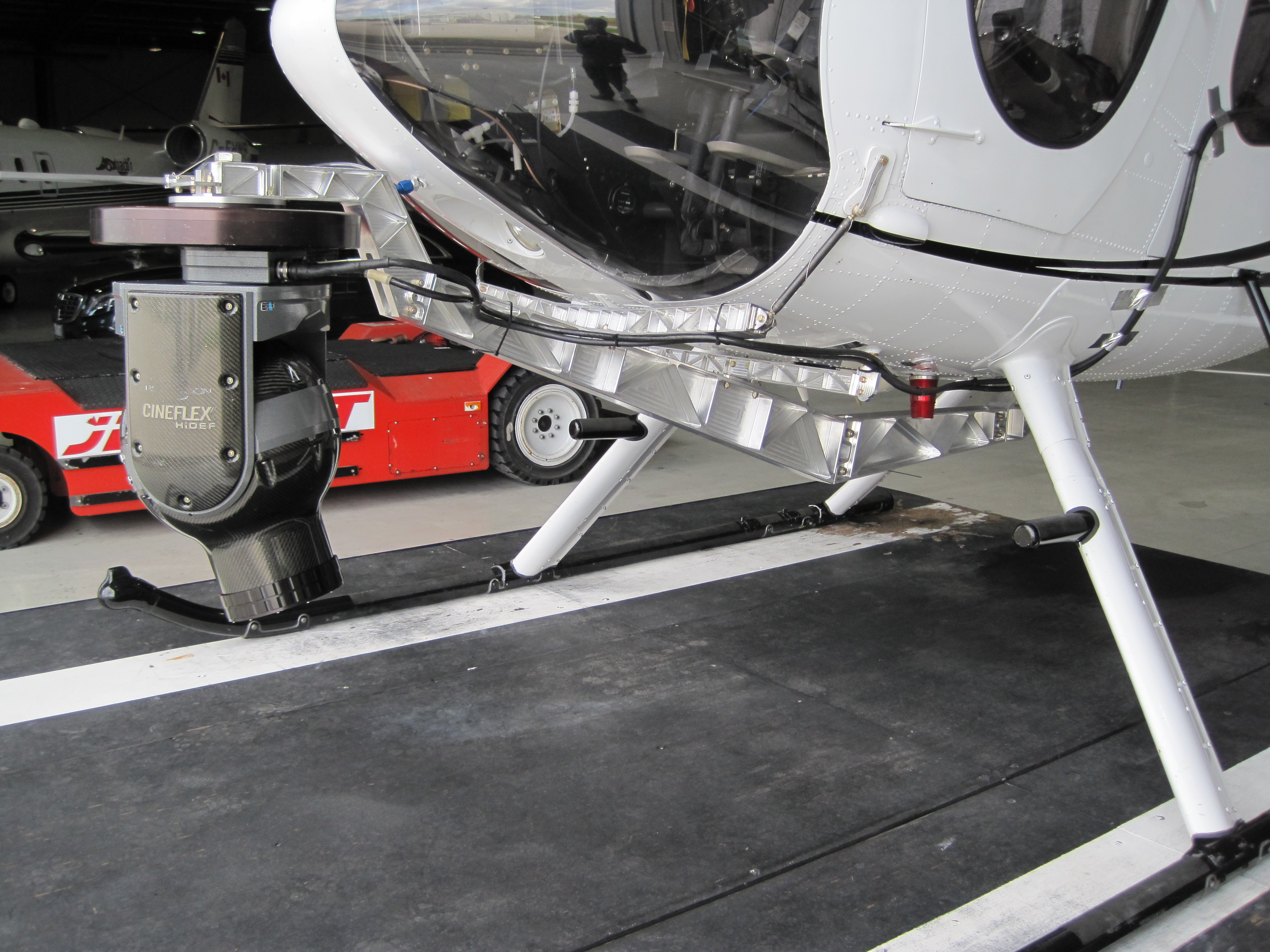 MD500 light fitting on helicopter